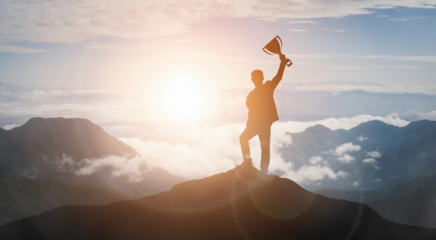 Prestatie en bedrijfsdoel succesconcept.