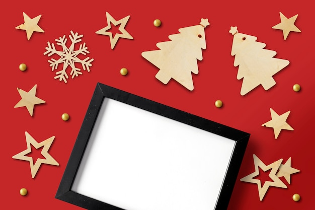 Prettige kerstdagen en gelukkig nieuwjaar achtergrond met ruimte voor tekst