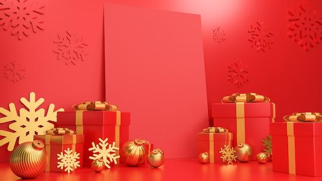 Prettige kerstdagen en gelukkig nieuwjaar banner luxe stijl.