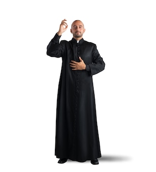 Priester is een zegen voor de gelovigen Premium Foto