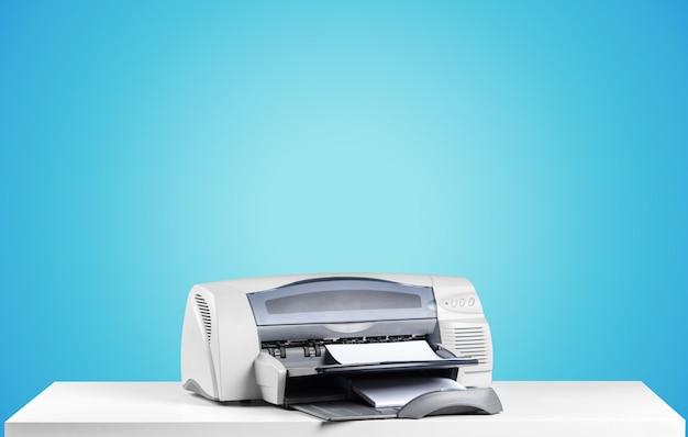 Printer, kopieerapparaat, scanner. werk tafel