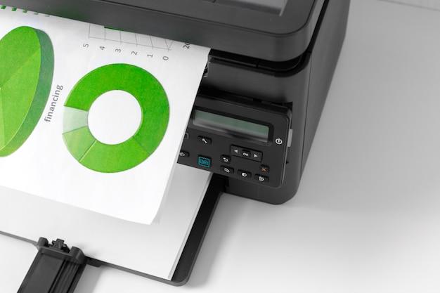 Printer op de tafel