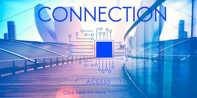 Printplaat chip technologie concept