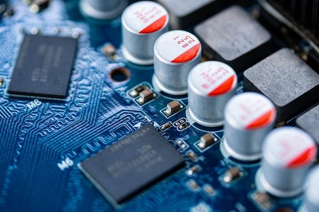 Printplaatcomputer, elektronische hardwaretextuur