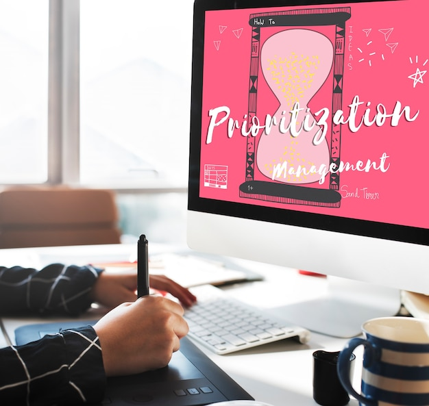 Prioriteit plannen prioriteit toewijzen deadline concpet