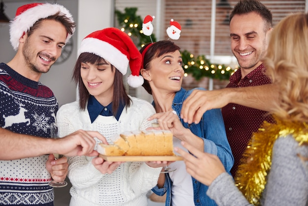 Probeer eens een stuk kersttaart