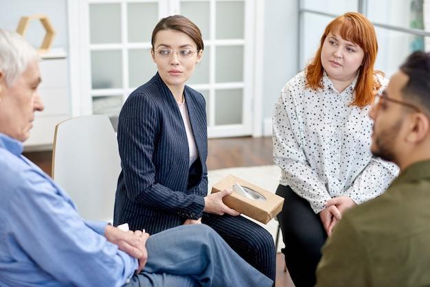 Problemen delen met support group