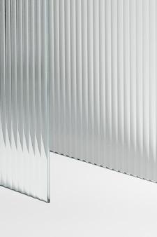Productachtergrond met helder patroonglas