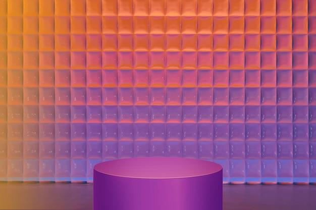 Productachtergrond met kleurovergang, neon paarse standaard