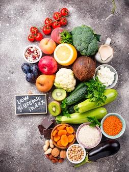 Producten met een lage glycemische index