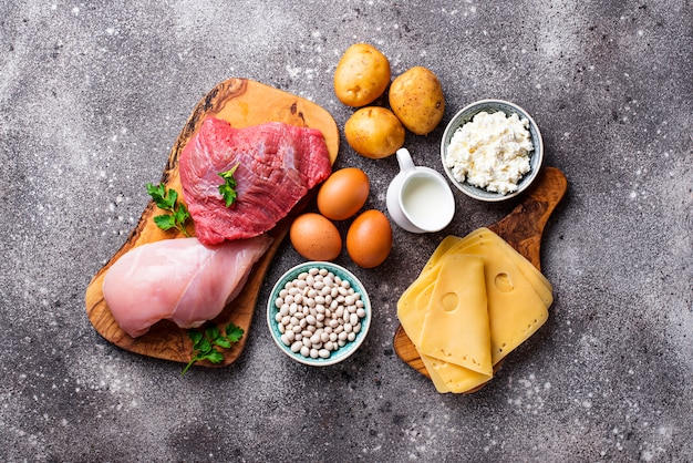 Producten rijk aan aminozuren.