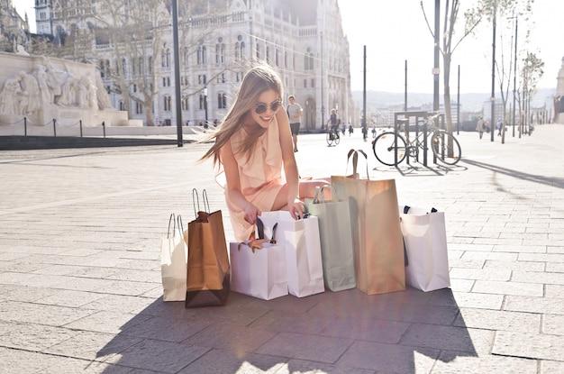 Producten van een shopping tour