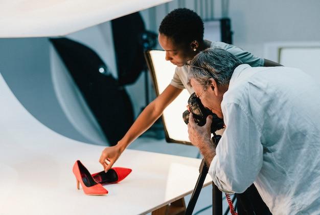 Productfotografie-opnamen van schoenen