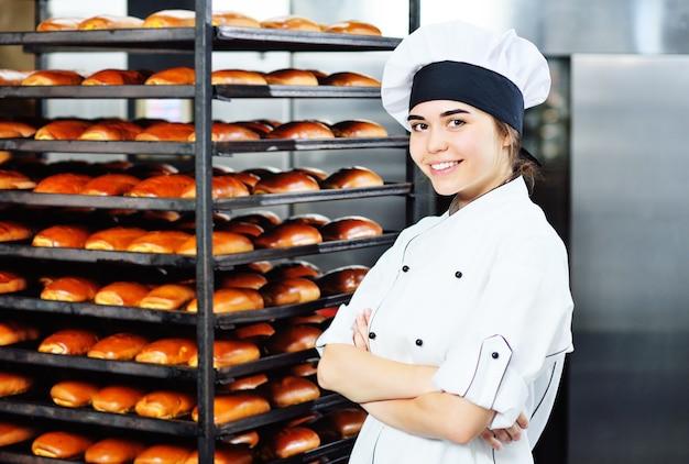 Productie van bakkerijproducten.