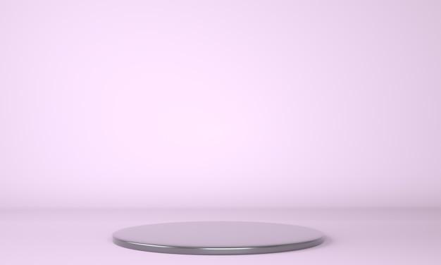 Productpodium op pastel achtergrond 3d