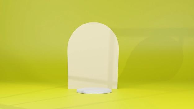 Productstandaard met gele achtergrond