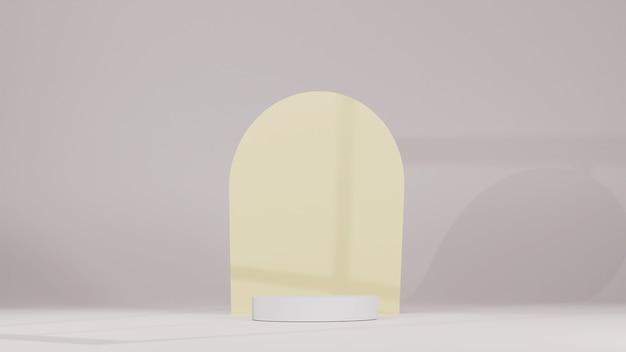 Productstandaard met minimalistische achtergrond 3d render