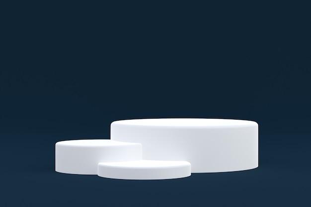 Productstandaard, podium minimaal op donkere achtergrond voor cosmetische productpresentatie.