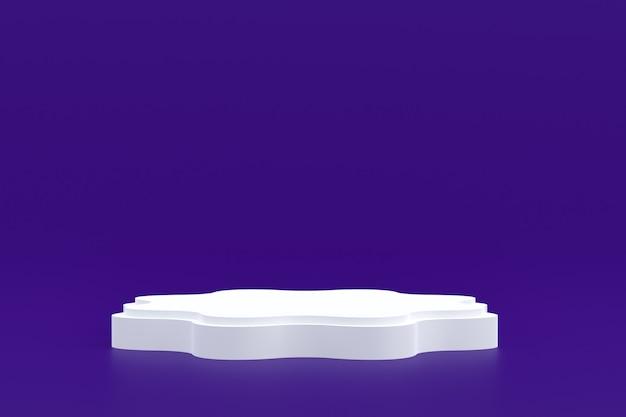 Productstandaard, podium minimaal op paars voor cosmetische productpresentatie.