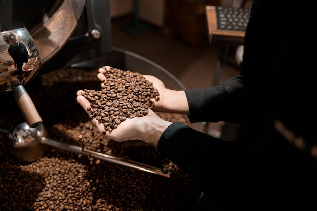 Professioneel koffiebranderingsproces