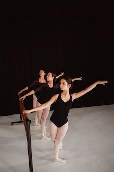 Professionele ballerina's die samen repeteren