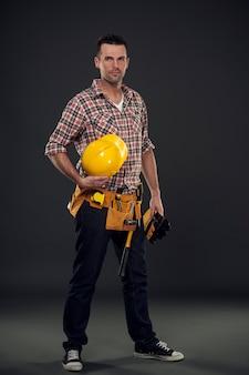 Professionele bouwvakker
