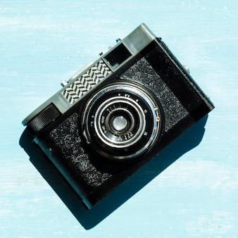 Professionele camera met hoge kijkhoek