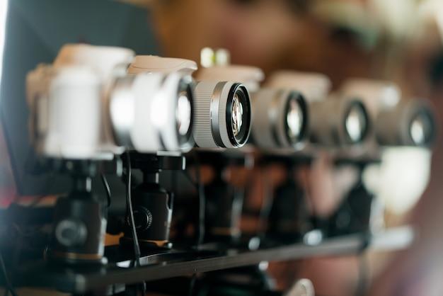 Professionele fotograaf, close-up digitale camera