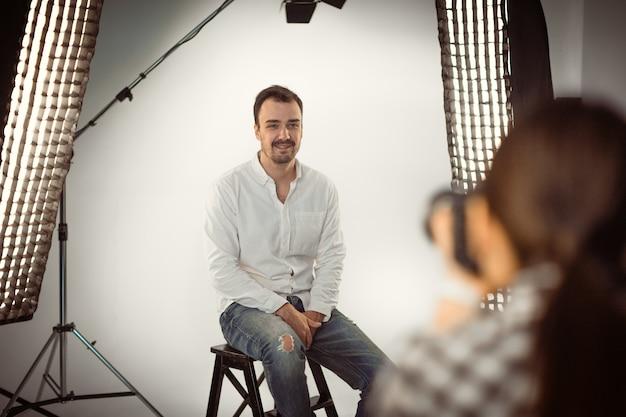 Professionele fotoshoot in de studio