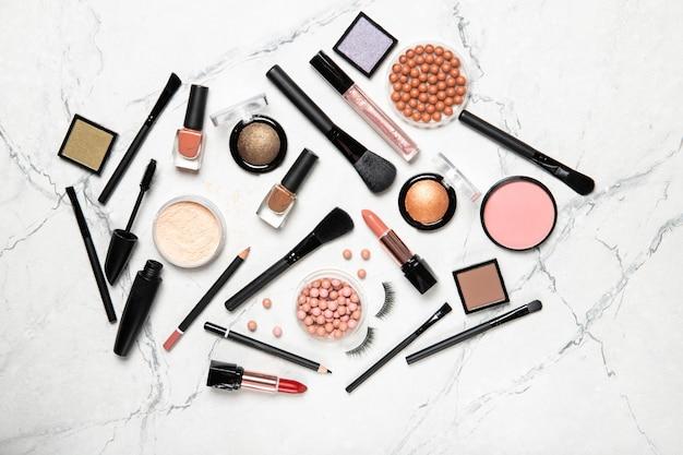 Professionele make-upborstels en gereedschappen, make-upproducten instellen
