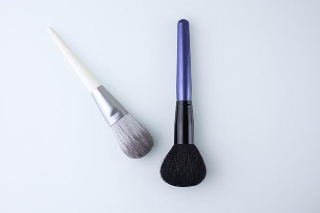 Professionele make-upborstels op een wit