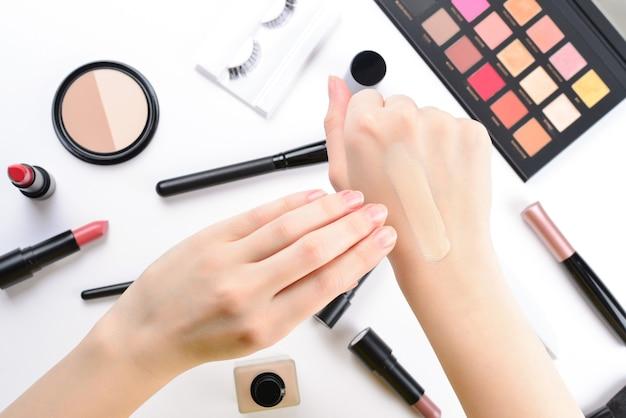 Professionele make-upproducten met cosmetische schoonheidsproducten
