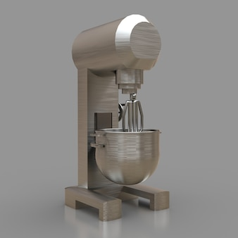 Professionele mixer voor restaurants, cafés en patisserieën. 3d renderings.