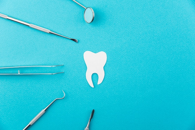 Professionele reeks geïsoleerde hulpmiddelen van het tandartsmateriaal