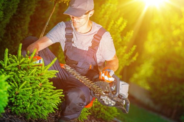Professionele tuinwerker