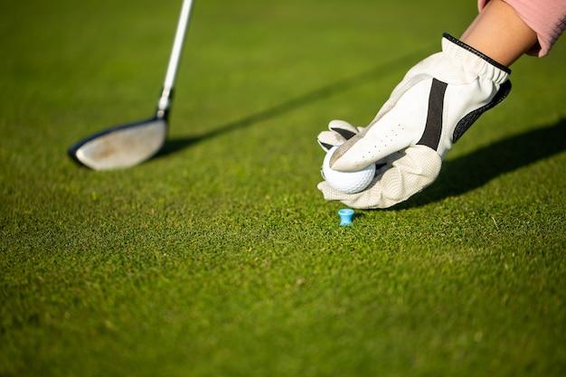 Professionele vrouw golfspeler golfwedstrijd wedstrijd, professionele sport concept