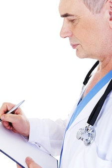 Profiel van :: volwassen mannelijke arts werken