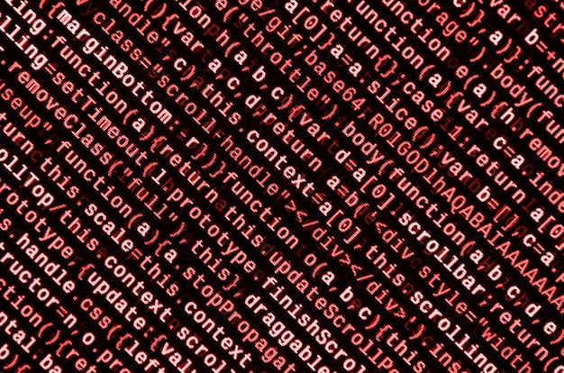 Programmeercode schrijven op laptop