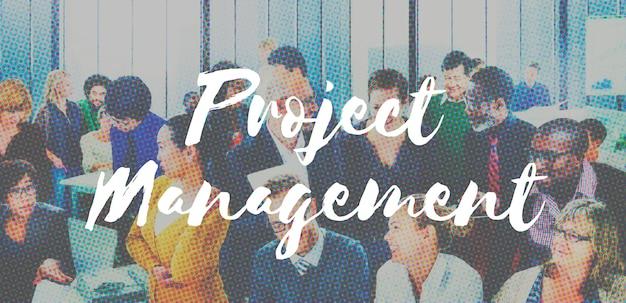 Project management bedrijfscoördinatieconcept
