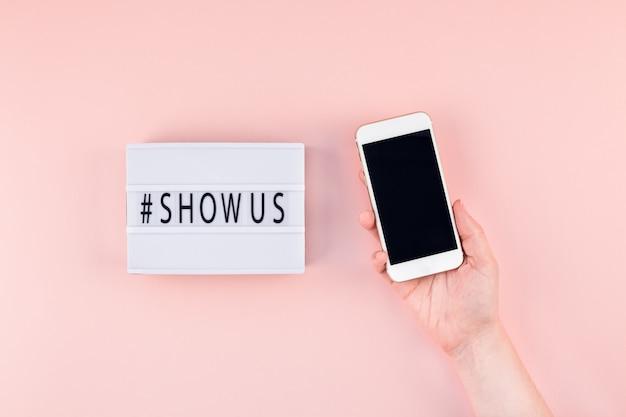 Project show us concept met lightbox