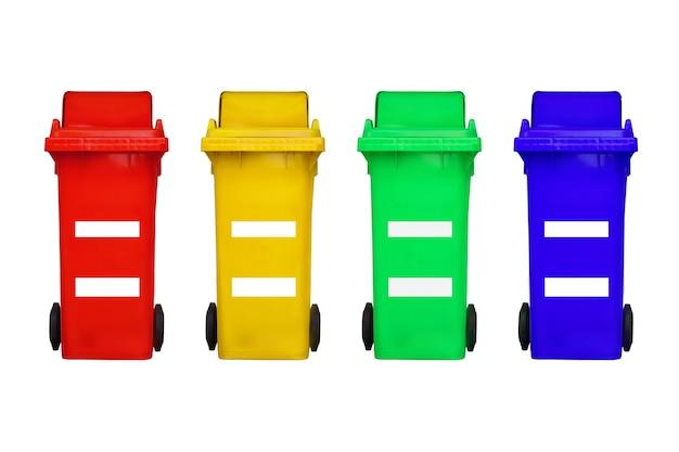 Prullenbak kan worden gebruikt voor kleurscheiding op een witte achtergrond.