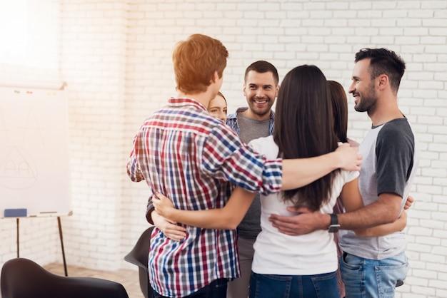 Psychologische hulp in steungroepen psychotherapie