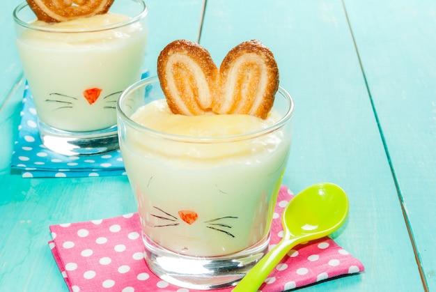 Pudding-konijntje voor pasen
