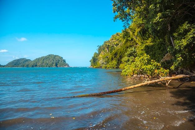 Puerto escondido in punta de sal in de caribische zee, tela. honduras