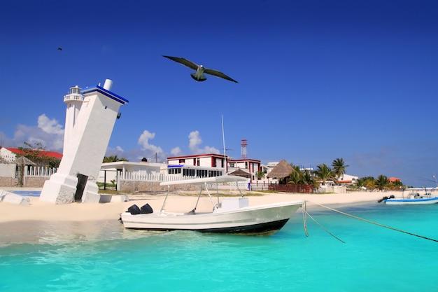 Puerto morelos-strand mayan riviera caraïbische overzees