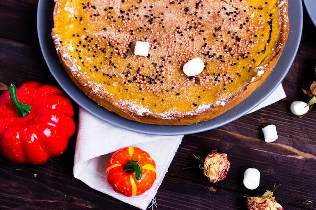 Pumpkin pie traditional thanksgiving tasty tart