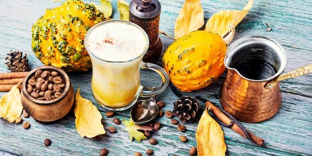 Pumpkin spice coffee