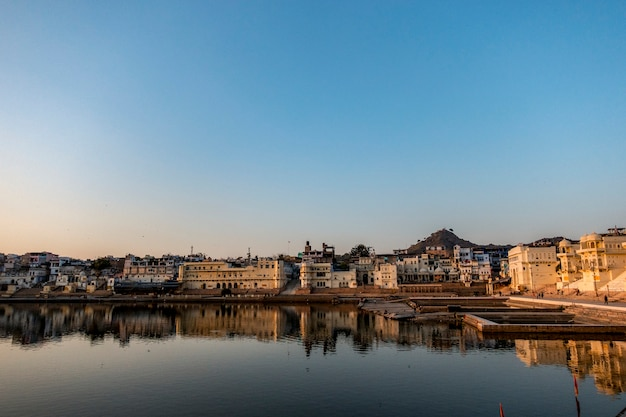 Pushkar lake een heilig meer, rajasthan, india