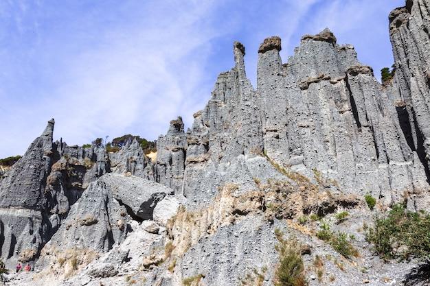 Putangirua pinakels. steile kliffen van north island, nieuw-zeeland
