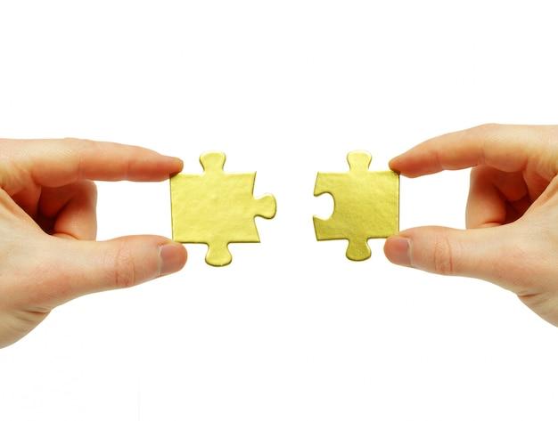 Puzzel in de hand